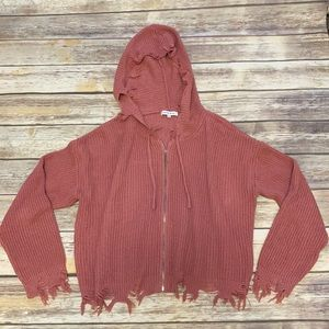 Hooked Up  Zipper Hooded sweater